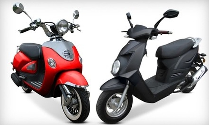 Chironex Motorsports Inc. - Ottawa: Chase 50 or 150 Scooter or Vinny 50 or 150 Scooter Including Shipping from Chironex Motorsports Inc. (Up to 40% Off)