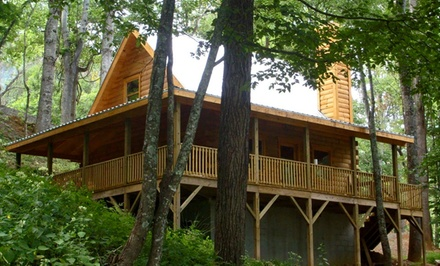 Groupon Deal: 2- or 3-Night Log-Cabin Stay for Up to Eight at Randall Glen in Leicester, NC. Combine Up to 6 Nights.