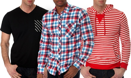 Men's 3-Piece Slim Fit T-Shirt, Button-Down and Hoodie Set