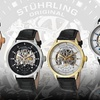 Stührling Original Men's Skeleton Automatic Watch