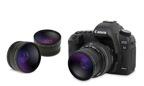 Gran angular y macro compatibles con cámaras de 52 o 58 mm