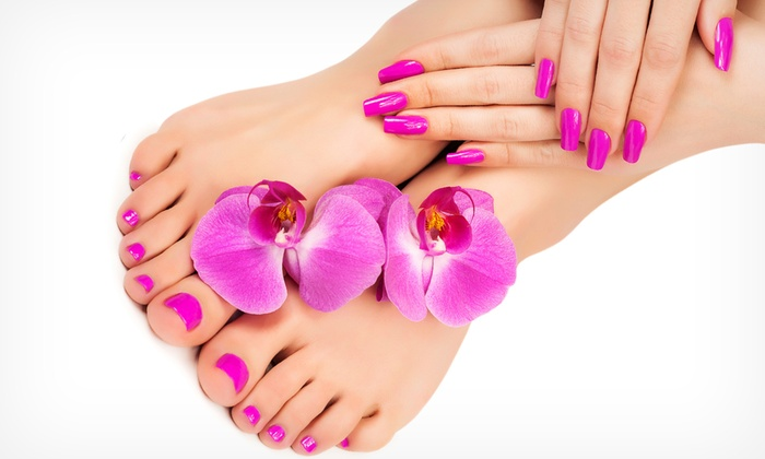 Mood Beauty Centre - Mood Beauty Centre: Pamper Package Including Mani-Pedi, Threading and Hair Treatment at Mood Beauty Centre (Up to 88% Off)