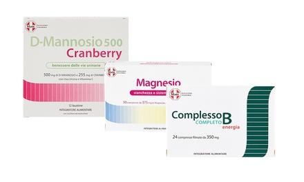 2 o 3 confezioni di Integratori Matt complesso B, D-mannosio cranberry o magnesio