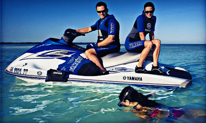 On the Beach Watersports - Pompano Beach: $64 for WaveRunner and Cabana Rental with Two Lounge Chairs from On the Beach Watersport ($130 Value)