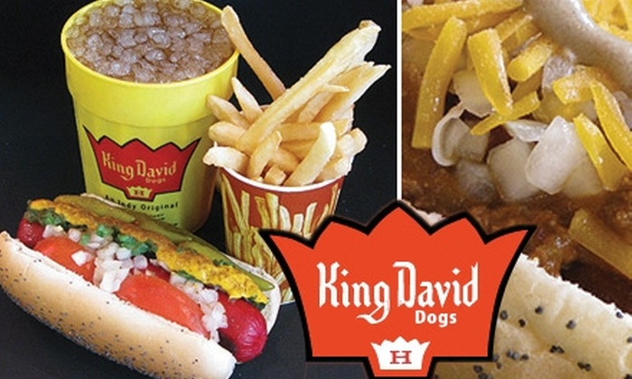 King David Dogs - Downtown Indianapolis: $5 for $10 Worth of Hot Dogs and More at King David Dogs