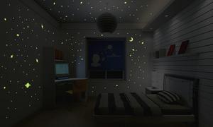 Set adesivi fluorescenti stellati
