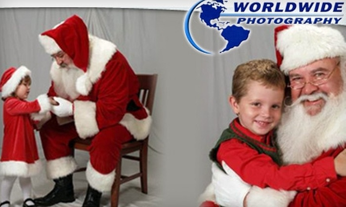 World Wide Photography - Multiple Locations: $10 for a Visit with Santa and Three Portraits from World Wide Photography (Up to $22.99 Value). Choose One of Three Locations.