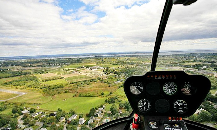Bird's Eye View Helicopters - Middletown: $115 for a Helicopter Tour for up to Three from Bird's Eye View Helicopters ($195 Value)