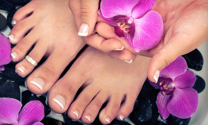 Elixir Salon - East Central: $42 for Spa Manicure and Spa Pedicure with Paraffin Treatment with Jennifer Gates at Elixir Salon ($85 Value)