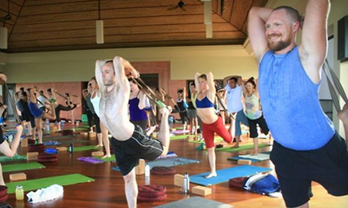 Moksha Yoga  - East Dartmouth: $39 for 10 Yoga Classes at Moksha Yoga in Dartmouth ($140 Value)