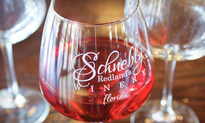 Schnebly Redland's Winery - Homestead: $25 for Wine-Tasting Package for Two at Schnebly Redland's Winery in Homestead (Up to $50.90 Value)