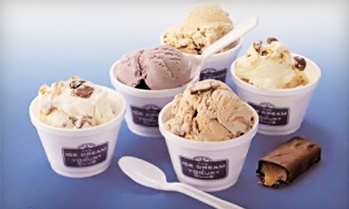 Naples Ice Cream Club - Central Naples: $11 for Two Famous Nathan's Hot Dog Dinners and Two Desserts at Naples Ice Cream Club (Up to $22.96 Value)