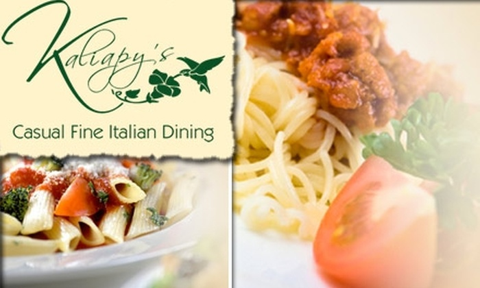Kaliapy's - Pinecrest: $15 for $35 Worth of Italian Cuisine and Drinks at Kaliapy's