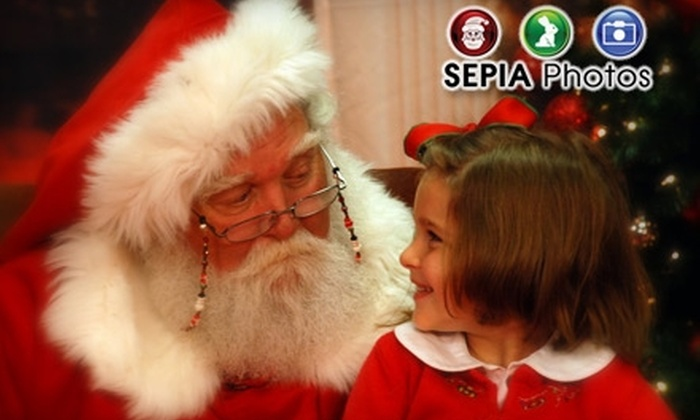 SEPIA Photos - Multiple Locations: $10 for a Visit with Santa and Three Portraits from Sepia Photos (Up to $23 Value)