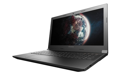 "Lenovo 15.6"" HD LED Notebook with AMD E1-6010 Processor, 4GB RAM, and Windows 7 & 8 Pro"