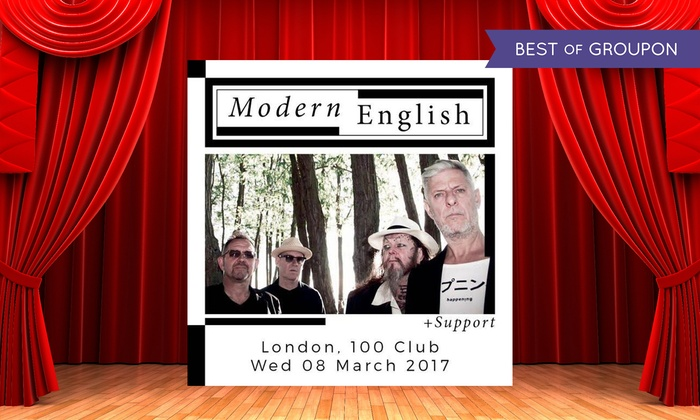 Modern English - 100 club: Modern English, Standard Admission Ticket, 8 March (Up to 33% Off)