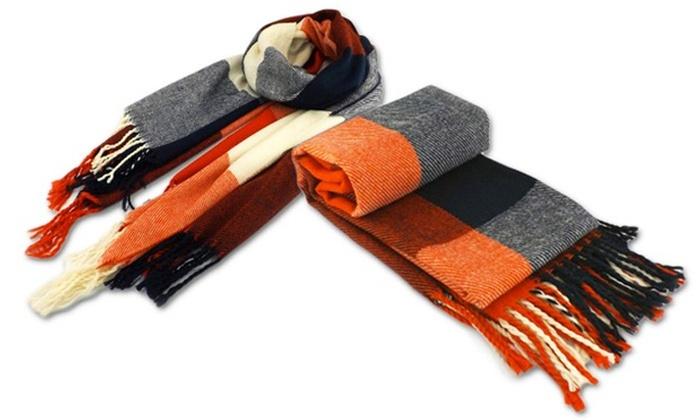 Echarpe en laine grands carreaux Echarpe en laine grands carreaux ... 0834c4bce5b