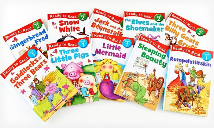 Ready to Read 10-Book Set: $19.99 for 10 Ready to Read Hardcover Children's Storybooks with Reading Aids ($89.50 List Price). Free Shipping.