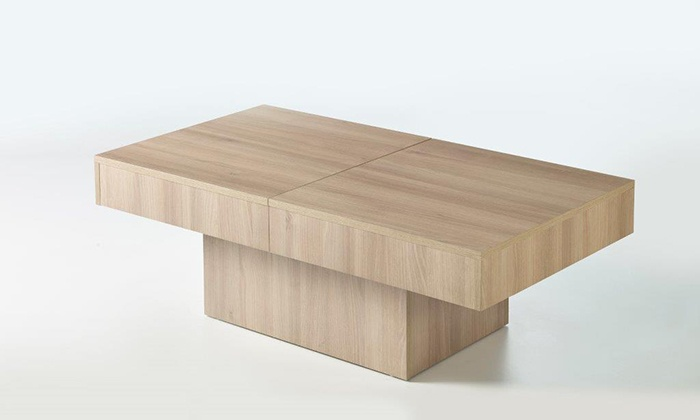 Groupon Goods Global Gmbh Sliding Top Storage Coffee Table In Choice Of Colour For