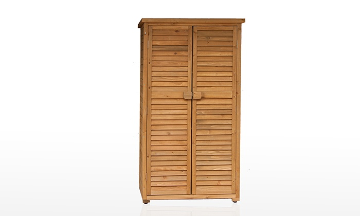 Armadio da esterno in legno groupon for Groupon armadio