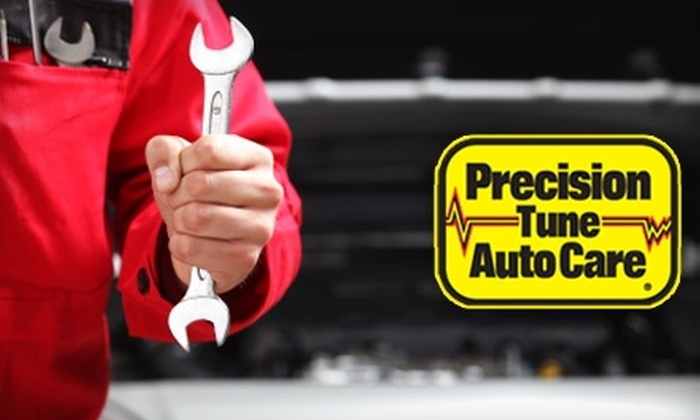 Precision Tune Auto Care Columbus - Multiple Locations: $25 for Oil Change, Tire Rotation and Balance, Wiper-Blade Replacement, and Brake Inspection at Precision Tune Auto Care ($134.50 Value)