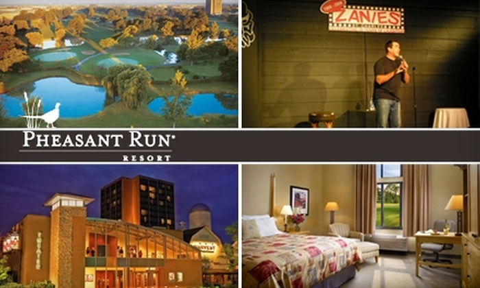 Pheasant Run Resort - St. Charles: Golf, Luxury Resort Lodging, or Comedy or Theater Tickets at Pheasant Run Resort in St. Charles. Choose from Four Options.
