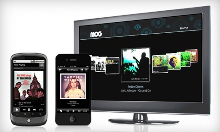 MOG Music: $15 for a Three-Month Subscription to MOG Music (Up to $29.97 Value)