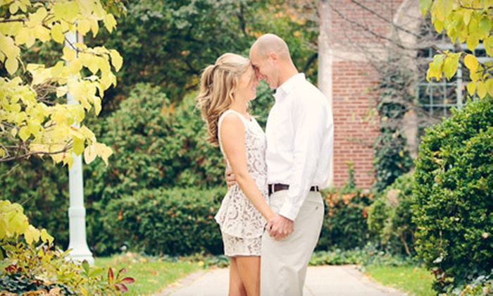 J Carlynn Photography - East Lansing: In-Studio Couples Photo Package or On-Location Engagement Photo Package from J Carlynn Photography (Up to 74% Off)