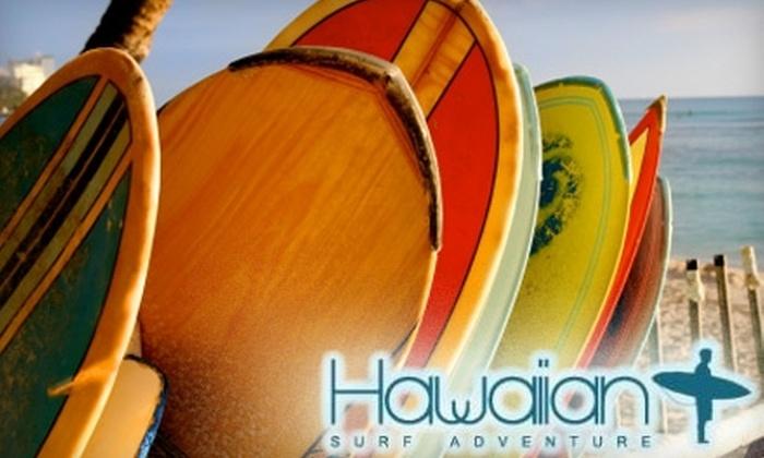 Hawaiian Surf Adventure - Hawaii Kai: $43 for a Two-Hour Surf Lesson ($89 Value) at Hawaiian Surf Adventure