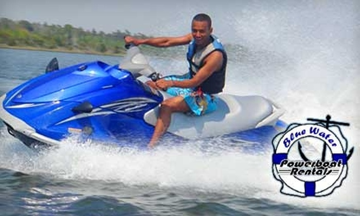Blue Water Powerboat Rentals: $39 for a One-Hour Jet Ski Rental from Blue Water Boat Rental ($79 Value)