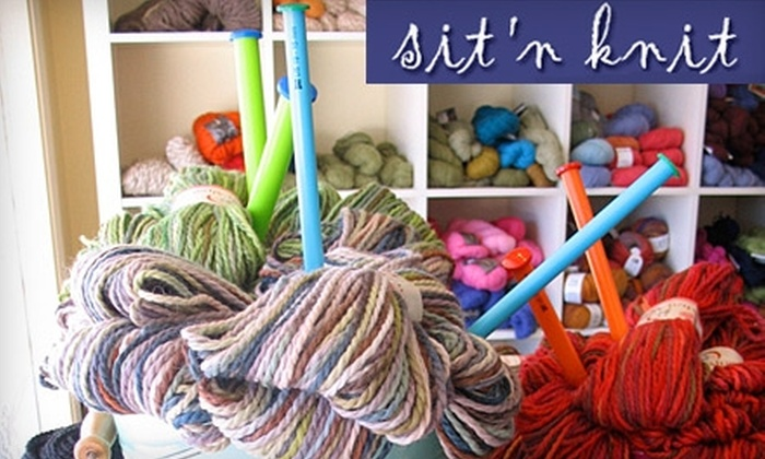 Sit 'n Knit - Bloomfield: $38 for Three Knitting Classes of Your Choice at Sit 'n Knit ($120 Value) in Bloomfield