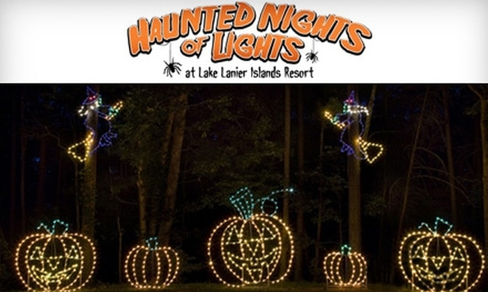 lake lanier islands resorts haunted nights of lights