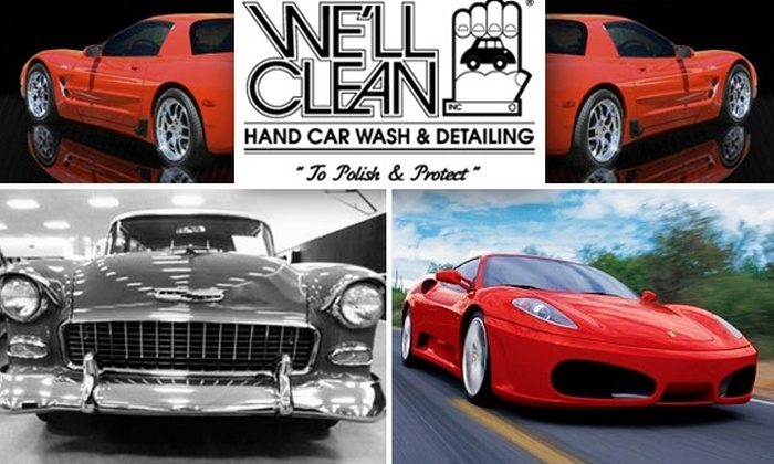We'll Clean - Multiple Locations: Hand Car Wash from We'll Clean Auto Spa. Two Packages Available.