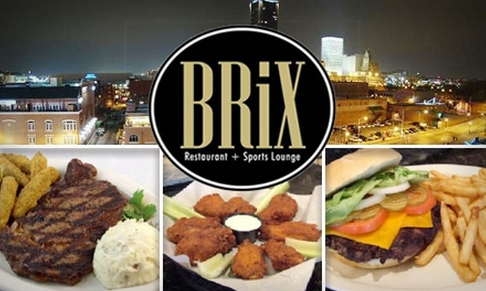 BRiX Restaurant and Sports Lounge - Downtown Oklahoma City: $8 for $20 Worth of Steaks, Wings, Drinks, and More at BRiX Restaurant and Sports Lounge