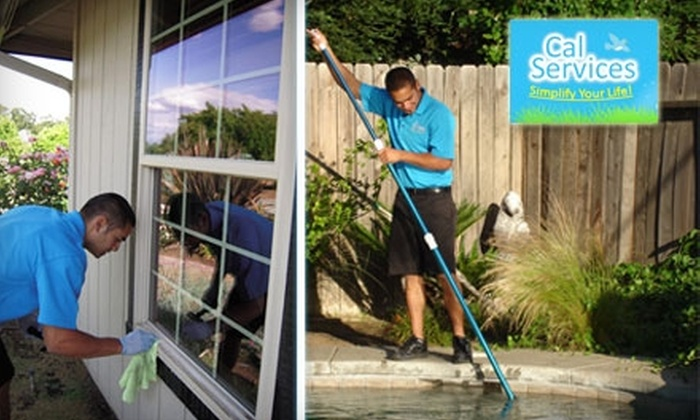 Cal Services - Fresno: Pool Cleaning or Window Washing from Cal Services. Choose Between Two Options.