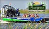Sawgrass Recreation Park - Weston: $20 for Two Everglades Airboat Rides and Two Wildlife Exhibit Passes at Sawgrass Recreation Park in Weston (Up to $42.93 Value)