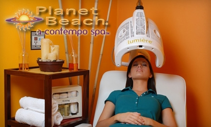 Planet Beach Contempo Spa - Multiple Locations: $20 for One Week of Unlimited Spa Services at Planet Beach Contempo Spa