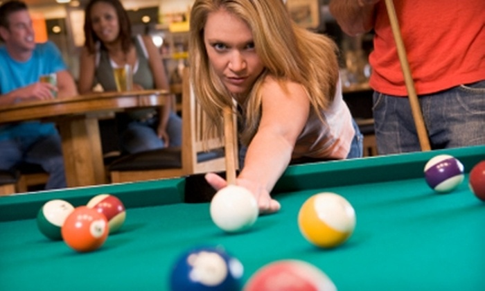 Maxamillians Billiards, Sports Bar and Brick Oven Eatery - Tyngsboro: $20 for 10-Hour Pool Card at Maxamillians Billiards, Sports Bar and Brick Oven Eatery in Tyngsborough (Up to $160 Value)