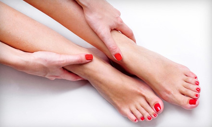 The Glam Spot Beauty Company - Winston Park: $15 for a Traditional or $20 for a French Mani-Pedi at The Glam Spot Beauty Company