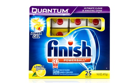 Finish Quantum Power Gel Dish-Detergent Capsules; 6-Pack of 25ct. Boxes + 5% Back in Groupon Bucks