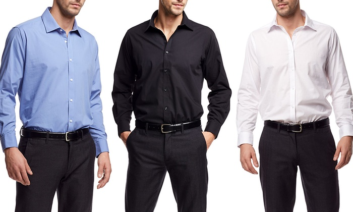 Men 39 S Modern Fit Dress Shirt Groupon Goods