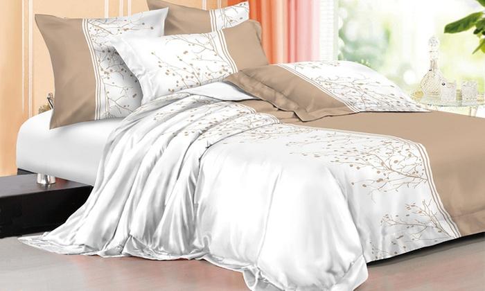 parure de lit microfibre groupon shopping. Black Bedroom Furniture Sets. Home Design Ideas
