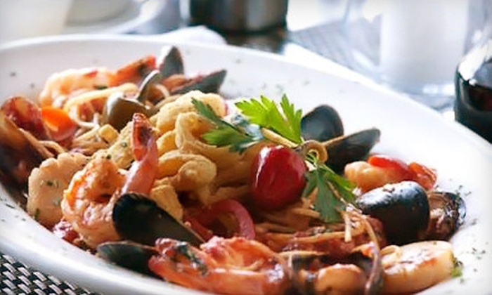 Nick's Tuscan Grill - Long Beach: $39 for an Italian Dinner for Two with Appetizer and Wine at Nick's Tuscan Grill (Up to $88 Value)