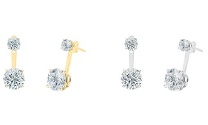 Cubic Zirconia Earrings in Sterling Silver or 14K Gold Plating at Cubic Zirconia Earrings in Sterling Silver or 14K Gold Plating , plus 6.0% Cash Back from Ebates.