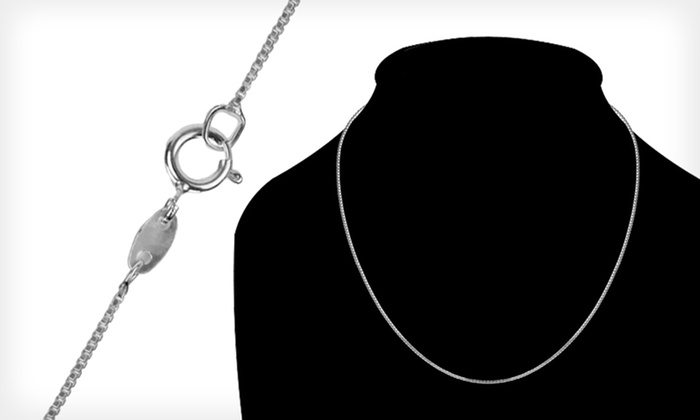 Italian Sterling-Silver Necklaces: One or Two Italian Sterling-Silver Necklaces (Up to 75% Off). Free Shipping on Purchases of $15 or More. Free Returns.