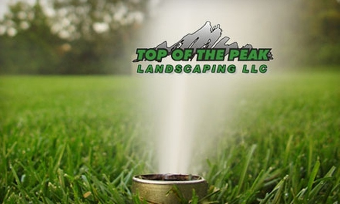 Top of the Peak Landscaping - Colorado Springs: $45 for a Sprinkler Blowout and Inspection from Top of the Peak Landscaping ($100 Value)