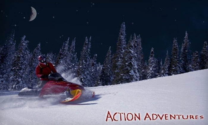 Action Adventures - Multiple Locations: Guided Snowmobile Tours of the Cascade Mountains from Action Adventures (Up to $195 Value). Choose Between Two Options.