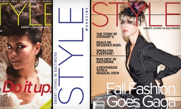 """Style"" Magazine - Baltimore: $7 for a One-Year Subscription to Baltimore's ""Style"" Magazine"