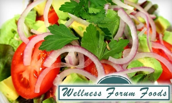 Wellness Forum Foods - Worthington: $25 for $50 Worth of Prepared Vegan Meals from Wellness Forum Foods in Worthington