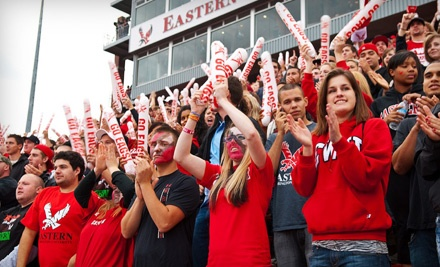 Eastern Washington University Eagles Football vs. Weber State Wildcats at Roos Field on Sat., Oct. 1 at 12:35PM: Family Pack - Eastern Washington University Eagles in Cheney
